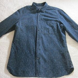 Banana Republic Shirt M Camden Dark Wash Chambray
